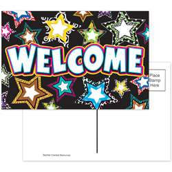 Fancy Stars Welcome Postcards By Teacher Created Resources