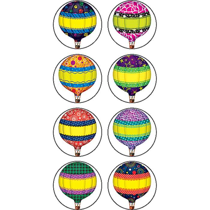 Hot Air Balloons Mini Stickers By Teacher Created Resources