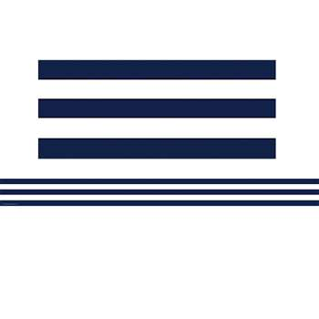 Navy Blue And White Stripes Straight Border Trim By Teacher Created Resources