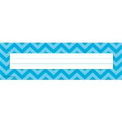 Shop Aqua Chevron Name Plates - Tcr5527 By Teacher Created Resources