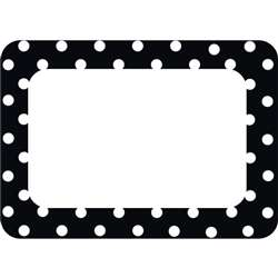 Shop Black Polka Dots 2 Name Tags - Tcr5538 By Teacher Created Resources