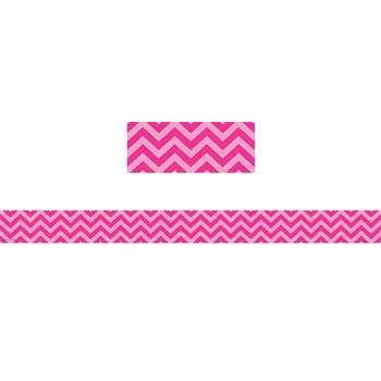 Shop Hot Pink Chevron Straight Border Trim - Tcr5541 By Teacher Created Resources