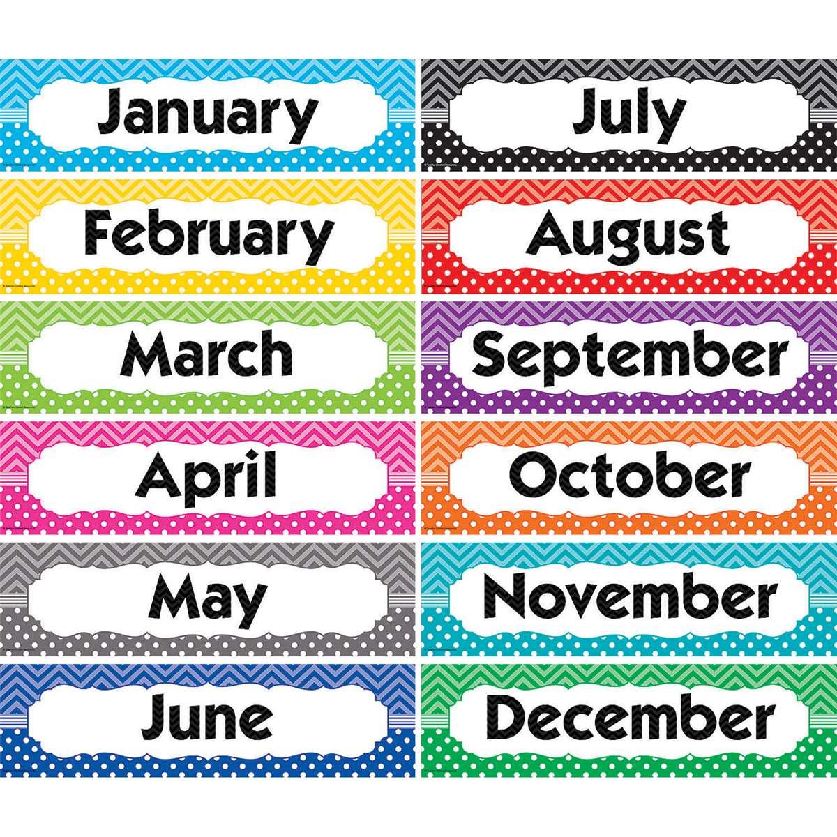 Chevrons /& Dots Monthly Headliners