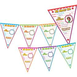 All About Me Pennants Bulletin Board, TCR5578