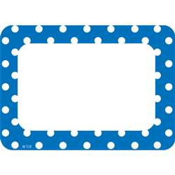 Blue Polka Dots Name Tags Labels, TCR5585