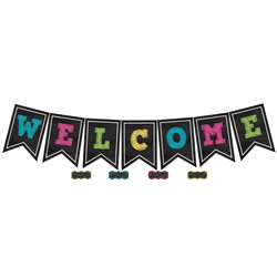 Chalkboard Brights Pennants Welcome, TCR5614