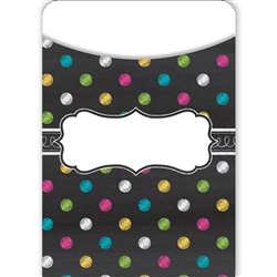 Chalkboard Brights Library Pockets, TCR5657