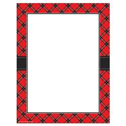 Red Plaid Computer Paper, TCR5695