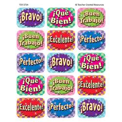Good Work Spanish Jumbo Stickers 90 Ct By Teacher Created Resources