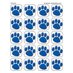 Blue Paw Prints Stickers 120 Stks By Teacher Created Resources