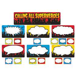 Calling All Superheros Mini Bulletin Board Set, TCR5825