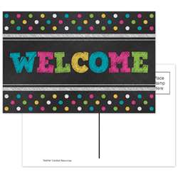 Chalkboard Brights Welcome Postcards, TCR5838