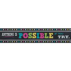 Chalkboard Brights Anything Is Possible Banner, TCR5840