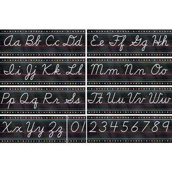 Chalkboard Brights Cursive Writing Bulletin Board, TCR5858
