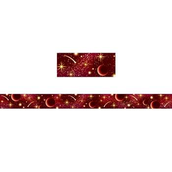 Red Stellar Space Straight Border Trim, TCR5863