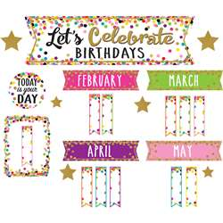 Confetti Happy Birthday Mini Bulletin Board Set, TCR5884