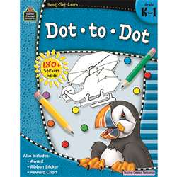 Ready Set Learn Dot To Dot Gr K-1 By Teacher Created Resources