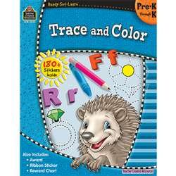 Ready Set Learn Trace And Color Gr Pk-K By Teacher Created Resources