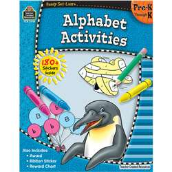 Ready-Set-Learn Alphabet Activities Gr Pk-K By Teacher Created Resources
