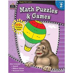 Ready Set Lrn Math Puzzles & Games Grade 2 By Teacher Created Resources