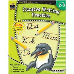 Ready Set Learn Cursive Writing Practice Grade 2-3 By Teacher Created Resources