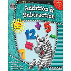 Ready Set Learn Grade 1 Addition & Subtraction By Teacher Created Resources
