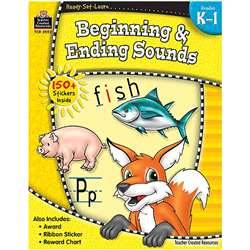 Ready Set Learn Beginning & Ending Sounds Gr K-1 By Teacher Created Resources