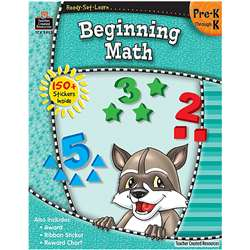 Ready Set Learn Beginning Math Grade Pk-K By Teacher Created Resources