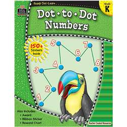Ready Set Learn Dot To Dot Numbers By Teacher Created Resources