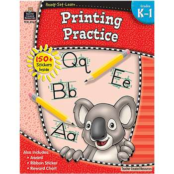 Ready Set Learn Printing Practice Grade K-1 By Teacher Created Resources