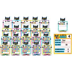Pete The Cat Numbers 0 To 20 Bulletin Board Set, TCR62005