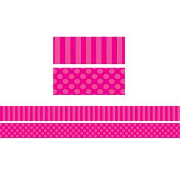 Pink Sassy Solids Double Sided Border, TCR73152