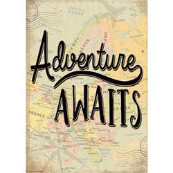 Adventure Awaits Positive Poster, TCR7432