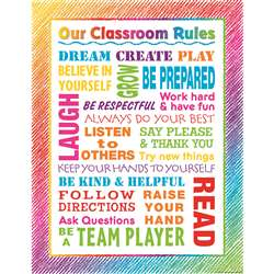 Colorful Scribble Our Classroom Rules Chart, TCR7524