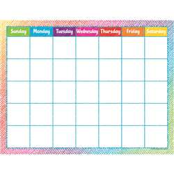 Colorful Scribble Calendar Chart, TCR7525
