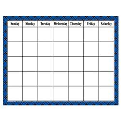 Blue Plaid Calendar Chart, TCR7547