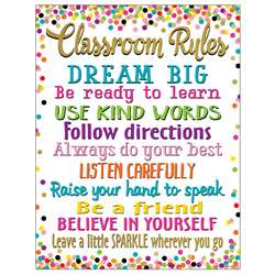 Confetti Classroom Rules Chart, TCR7553