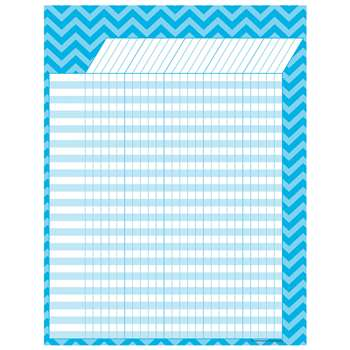 Shop Aqua Chevron Incentive Chart - Tcr7582 By Teacher Created Resources