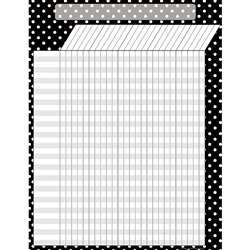 Black Polka Dots Incentive Chart By Teacher Created Resources