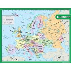 Europe Map Chart 17X22 By Teacher Created Resources