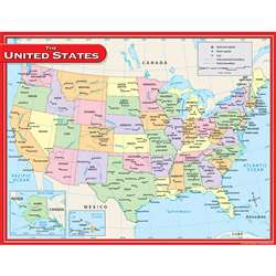 Us Map Chart 17X22 By Teacher Created Resources