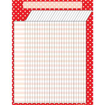 Red Polka Dots Incentive Chart By Teacher Created Resources