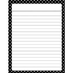 Black Polka Dots Chart By Teacher Created Resources