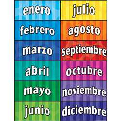 Months Of The Year Spanish Chart By Teacher Created Resources