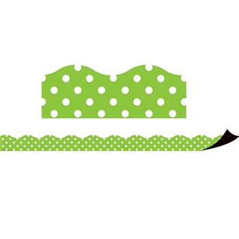 Magnetic Borders Lime Polka Dots, TCR77123
