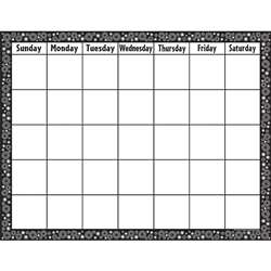 Black/White Crazy Circles Blank Calendar Chart By Teacher Created Resources
