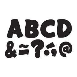 "Black Funtastic Font 3"" Magnetic Letters, TCR77214"