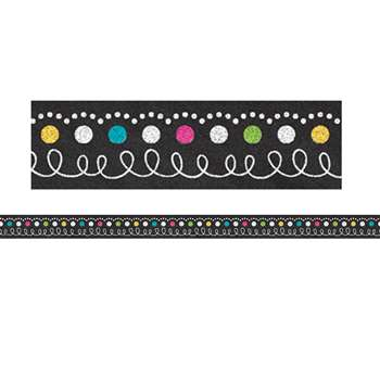 Chalkboard Brights Magnetic Strips, TCR77222