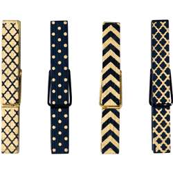 Black & Gold Magnetic Clothespins, TCR77249