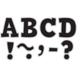 "Black & Silver Bold Block 3"" Magnetic Letters, TCR77266"